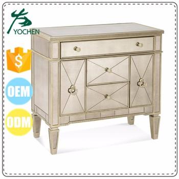 Italien Art Deco Biseaute Miroir Poitrine Tiroirs Cabinet Coffres