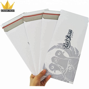 custom size CD/DVD Photo Mailers Stay Flats White Cardboard Self Seal Envelopes
