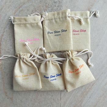 Mini Jute Jewelry Pouch Burlap Gift Bag Whole
