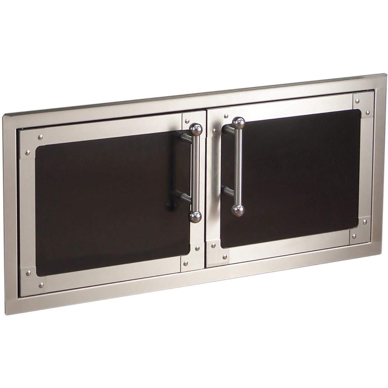 Fire Magic Echelon Black Diamond Reduced Height Double Access Doors With Soft Close - 53938hsc