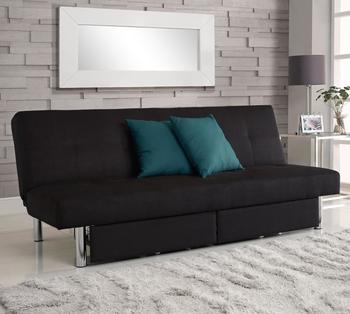 Microfiber Fold Down Futon Sofa Bed