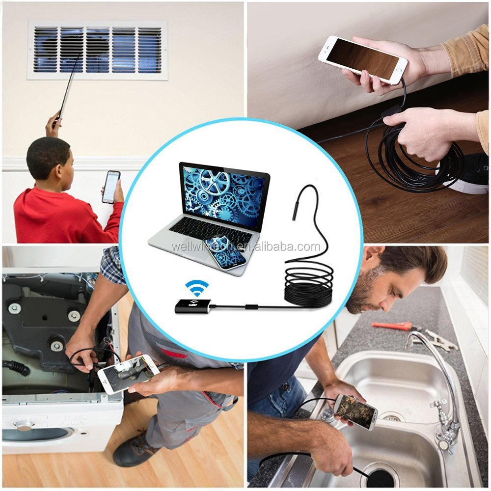 Waterproof 720P Video endoscope inspection borescope camera For Iphone and Android phone
