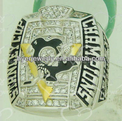 2009 penguins stanley cup ring with good quality and low price