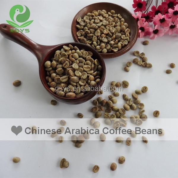 Haricots naturelles du Yunnan, thé brut de couleur arabe, Offre Spéciale