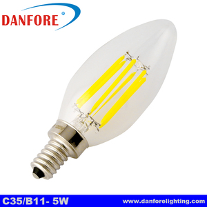 2W 3W 4W 220V 110V Dimmable E14 E12 filament led candle bulb chandelier led