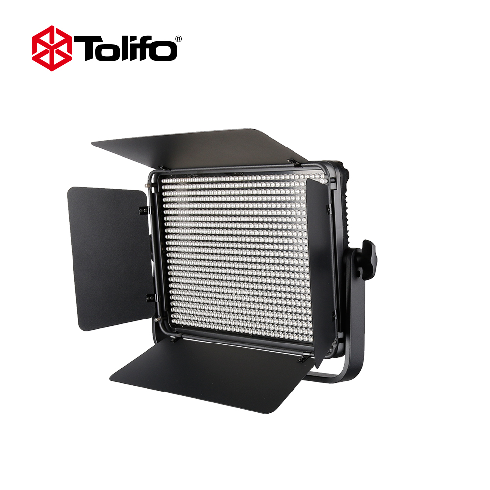 Tolifo 60W Power Dimmable Bi Color Camera LED Video Light Lamp Panel  Outdoor Continuous Photographic Light