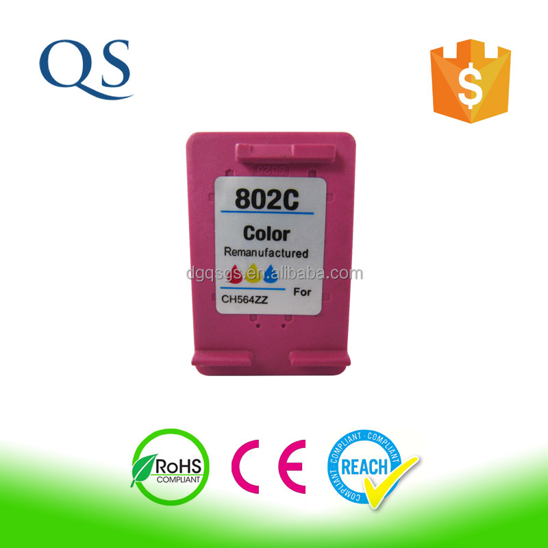 2016 New products for ink refill ink for hp 802 chip reset to full level ink cartridge for hp802XL
