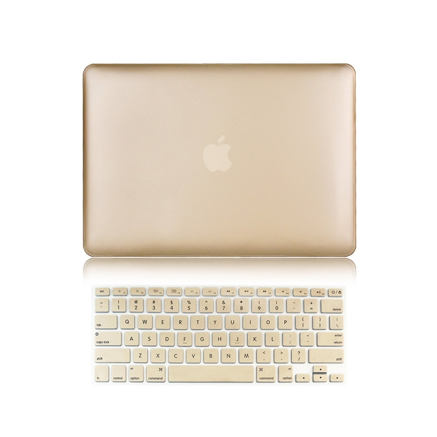 "Versality Perfect Fit Hard Case Cover for MacBook Air 13.3"" (Model: A1369 / A1466) and Matching Keyboard Cover in Champagne Gold Metallic"