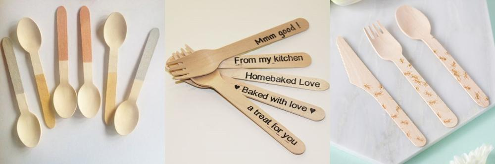 popular customized nature bamboo cutlery