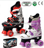 Popular adjustable quad skate shoes,outdoor sport flashing wheel equipment,4 wheels skate shoes