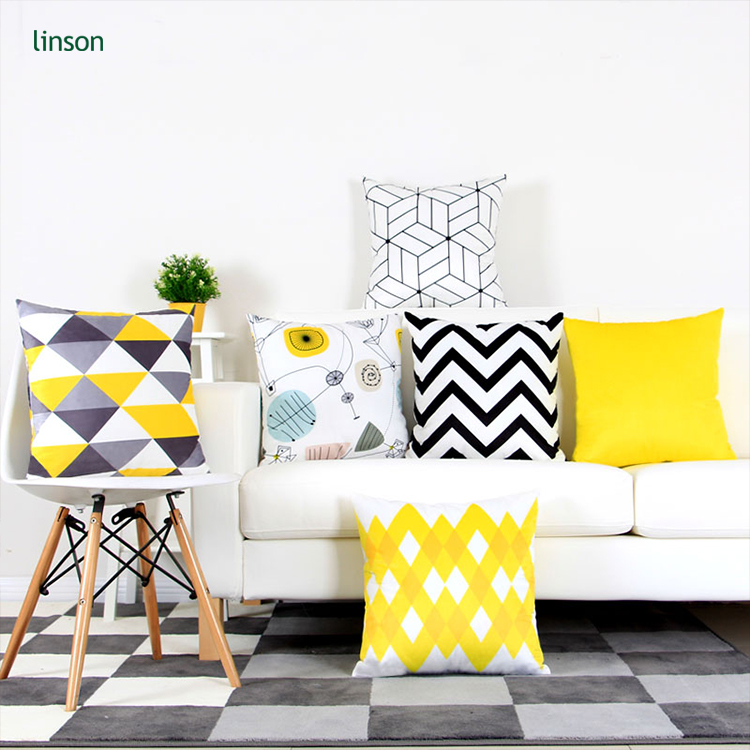 Wholesale Custom Printed velvet Cushion Cover Decorative sofa chair cushion cover