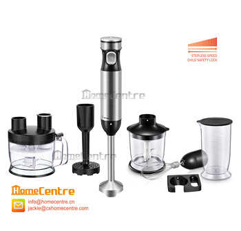 5-in-1 hand blender with stepless speed and child safety lock