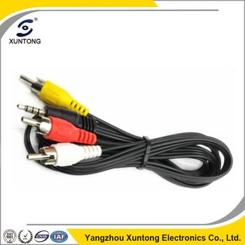 1-3 Av Cable Copper Wire Mp5 Connect Tv Wire 3.5 To Rca Rca Male ...