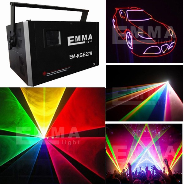 5.5W Analog Modulation RGB with SD , Laser Projector Disco DJ Equipment /multicolor lighting show