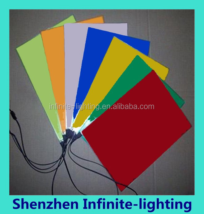 6 colors for choosing 10X10CM el sheet el panel el backlight for car,house,party,dispaly,holiday,festival and model decoration