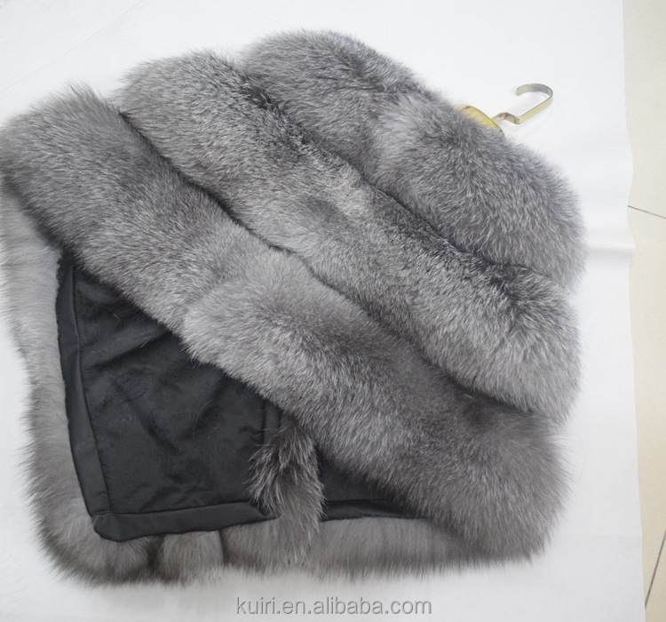 high-grade winer women fur coat real Sliver FOX fur wrap