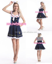 Navy marinero chica uniforme ladies rockabilly pin up vestido de lujo del traje y sombrero