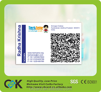 business card printingcr80 standard size business card with qr code pvc card - Standard Size Business Card