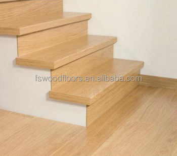 Great Natural Prefinished White Oak Wood Stair Tread