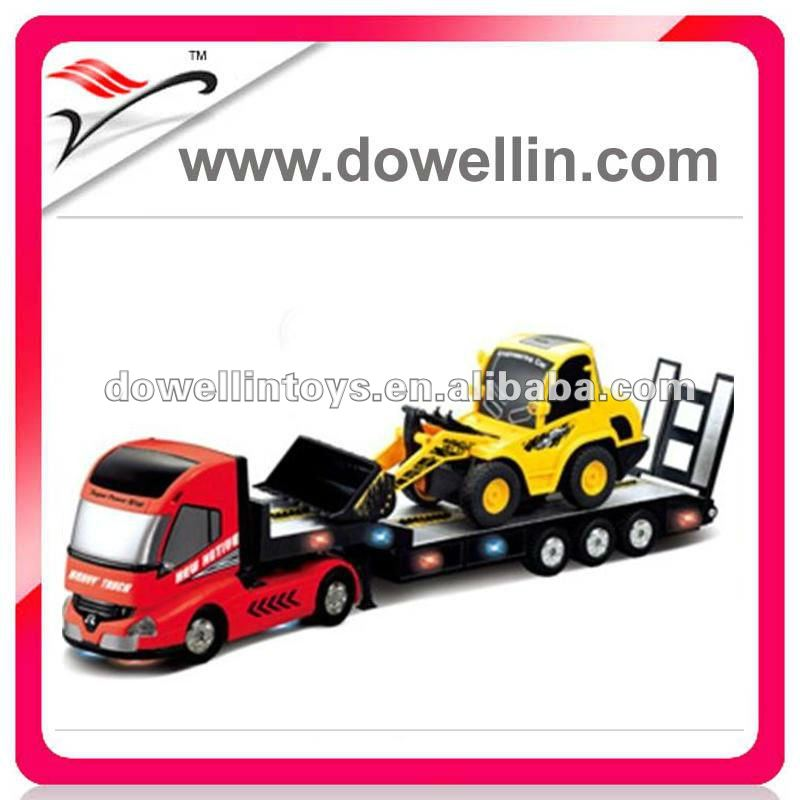 1:32 6ch rc heavy trailer with 1:20 6ch rc construction bigger truck rc trucks and trailers