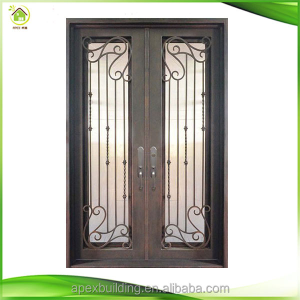 India Iron Pipe Door Design Wrought Iron And Glass Door Price Buy