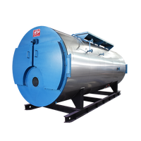 WNS industrial 0.5~4t/h gas diesel steam boiler for rubber industry