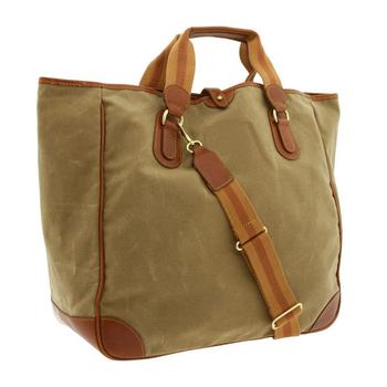 8b6d9a487e2e Large Vintage Men Wet Waxed Canvas Shoulder Bags With Leather Trim ...