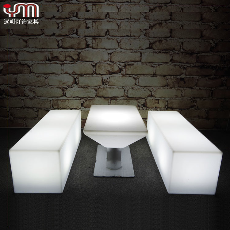 Light Up Tables and Stool For Led Furniture