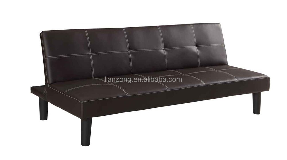 PU Leather Convertible 3 Seater Sofa bed / Futon