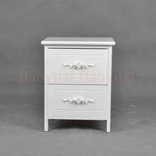 Wood Furniture Beside Table Living Room Wooden Storage Cabinets with Drawers