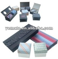 2012 fashion quality luxury tie display box,colorful packing and gift boxes with ribbon tie, paper quality tie gift box set