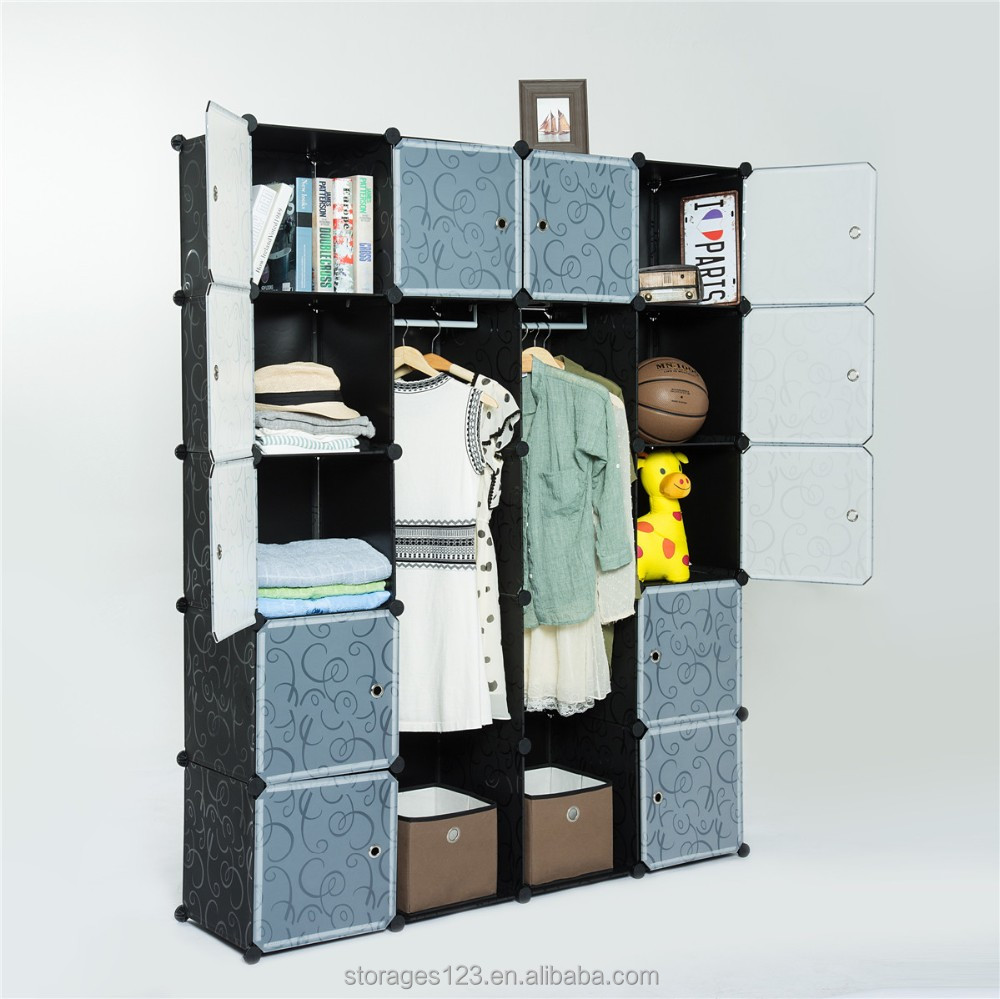 Supper big size living room cloth furniture/diy plastic storage closet