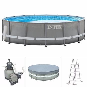 Intex 26752 18ft X 48in Large Metal Frame Pool Above Ground Pool ...