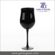 190ml factory customized size goblet blowing solid color red wine black glass