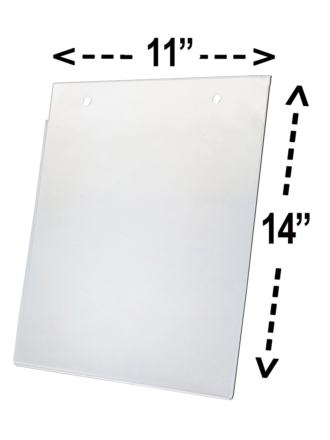 """Marketing Holders Clear Acrylic Sign Holder 11""""W x 14""""H Wall Mount Ad Frame Display (Lot of 6)"""