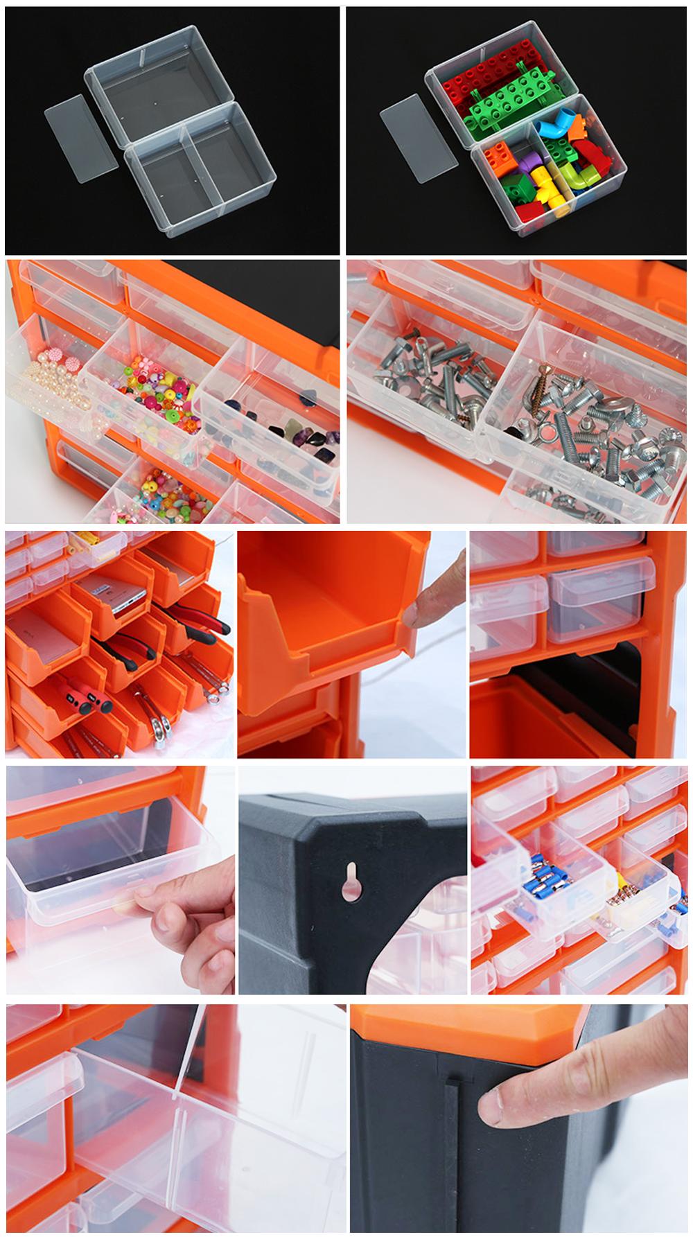 Caixa de armazenamento plástico do material pp com 39 gavetas caixa organizadora U-1510