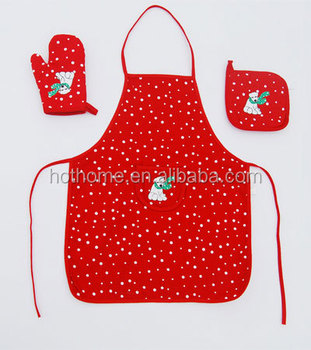 3 In 1 Fancy Cooking Kitchen Textiles Bib Apron Sets