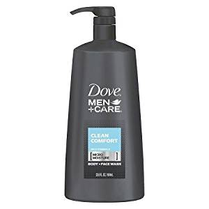 Dove Men+Care Clean Comfort Body Wash + Face Wash Pump 23.5 oz For Use On Whole Body
