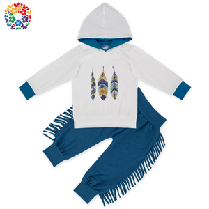 New Fashion Children Outfits Winter Kids Girl Hoodie Outfit With Pants Set Wholesale Boys Clothing Sets Kids Clothes
