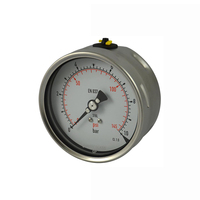 laser welding back entry All stainless steel pressure gauge high pressure gauge with oil filled