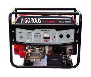 Recoil/Electric Start Dual Fuel Generators 6kw