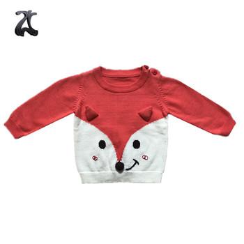 40acadd2 Kids Wholesale Orange Knitwear Sweater Fox Sweater Jumper - Buy ...