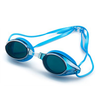 safety summer sports glasses blue lens anti fog myopia swimming goggles