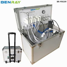 BR-PDC09 cheap portable mobile dental unit with air compressor manufacturer