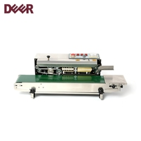 New product stainless steel continuous film sealing machine plastic film heat sealer