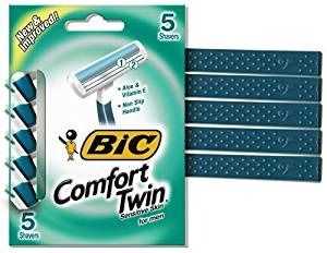 Bic Comfort Twin Sensitive Disposable Razors for Men, 5-Count, 0.11-Pounds (Pack of 3) by Bic Cooperation - Consumables