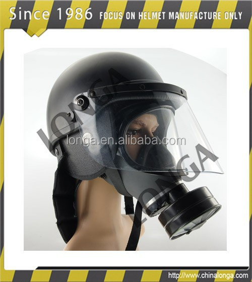 Advanced and high strength/durable gas mask helmet