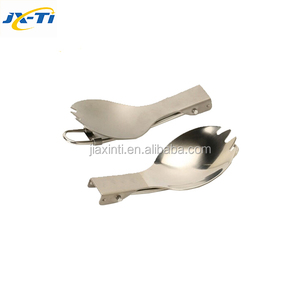 Mountaineering equipment Titanium spoon and fork spork