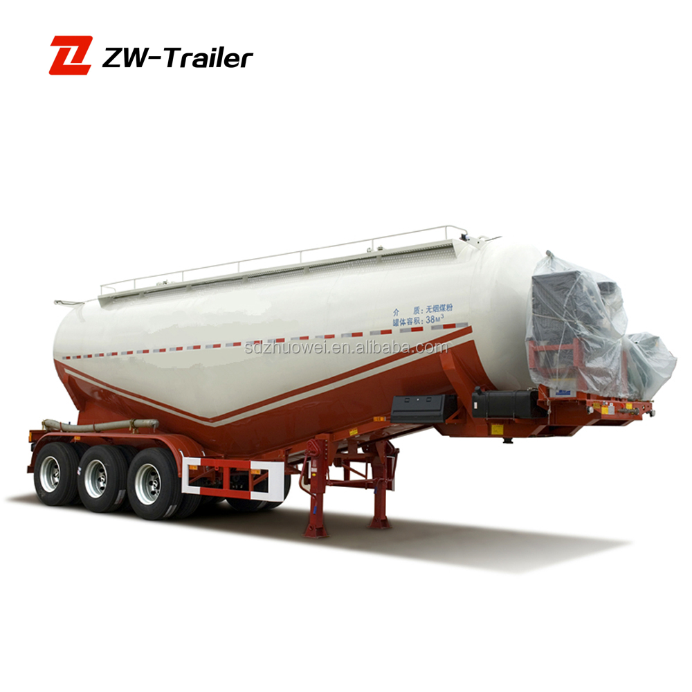 cement bulk powder semi trailer with 3 axle cement bulker