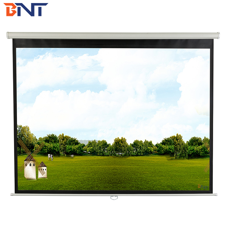 BNT Wireless remote control motorized projection screen for wall/ ceiling mounting BETPMS1-84